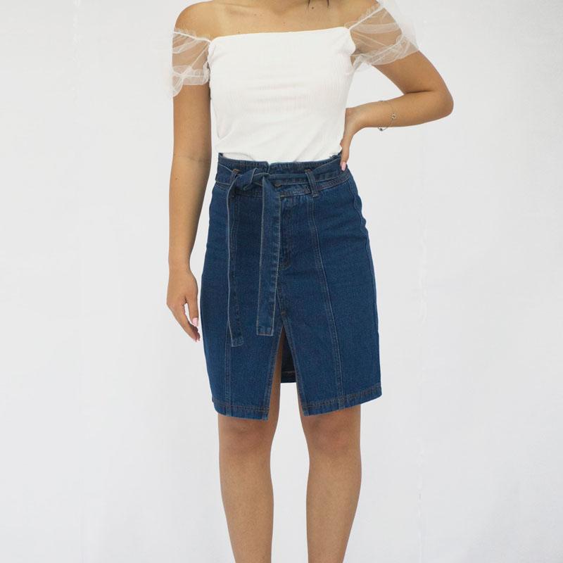 Τζιν φούστα μίντι