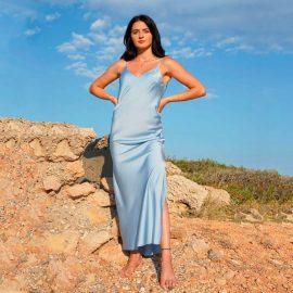 Φόρεμα Μάξι Σάτεν
