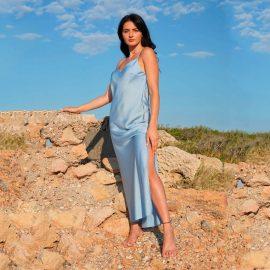 Φόρεμα Μάξι Σατέν