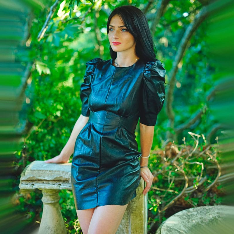 Δερμάτινο Φόρεμα Μίνι