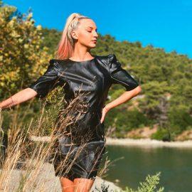 Μίνι Φόρεμα Δερματίνη